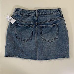 PacSun Skirts - Denim mini skirt with navy blue stripes down side